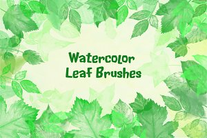 Watercolor Leaf Photoshop Brushes