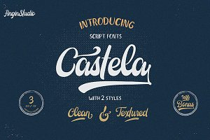 Castela (3 fonts with extras)