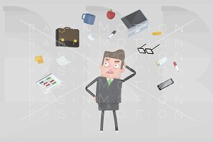 Businessman stressing