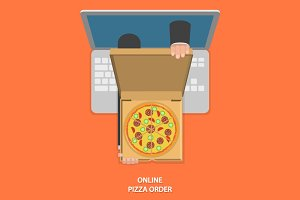 Online pizza ordering