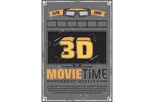 3D TV, glasses and cinema film