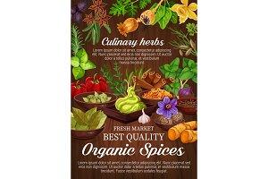 Seasoning, spice, herbs, condiments