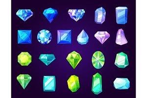 Sapphires, emeralds, precious stones