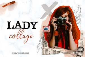 LADY COLLAGE contemporary design set