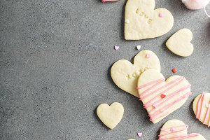 Heart shaped cookies for Valentines