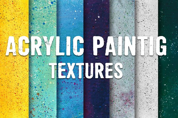 Acrylic painting textures pack