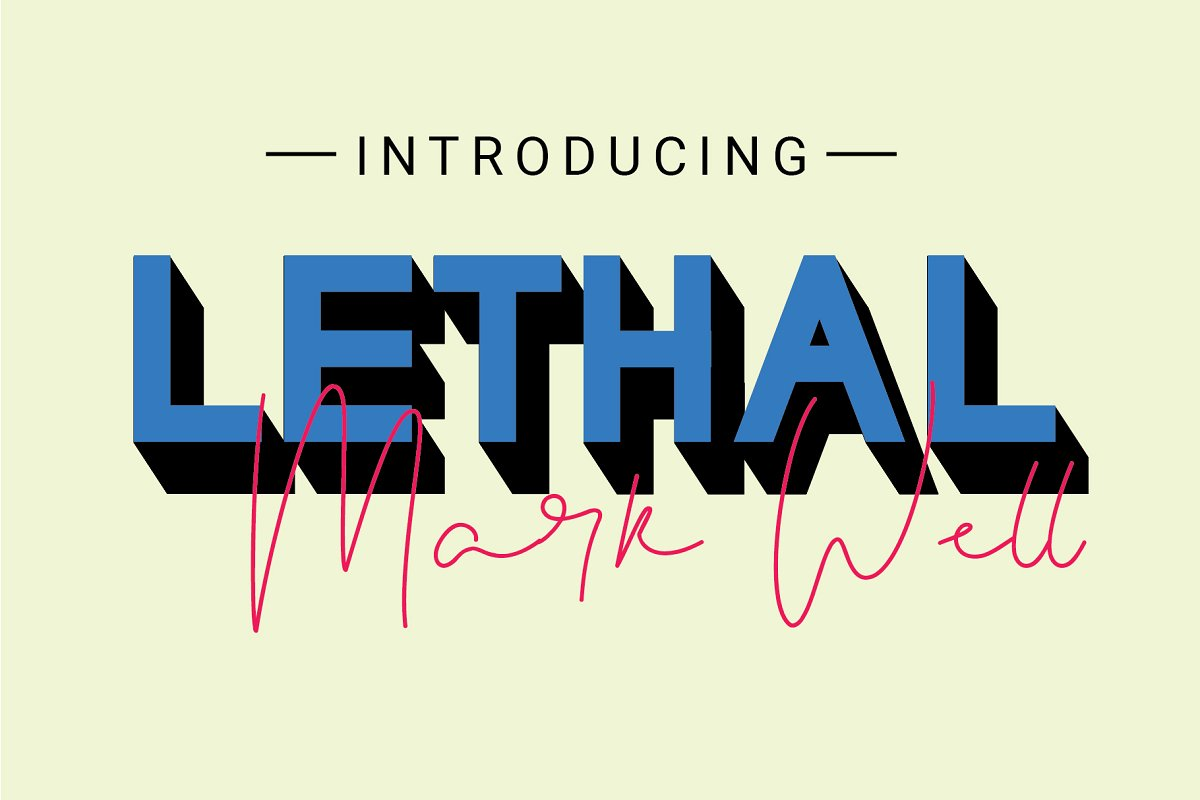 Lethal Markwell Duo Font