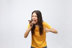 Portrait of a furious asian woman