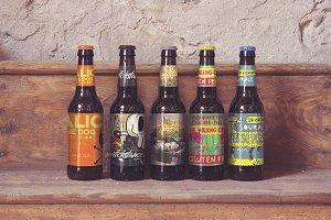 Wood Shelf   Beer Mockup