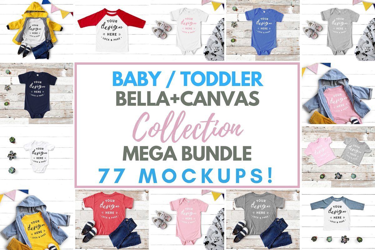 2f7de26c3339 Baby Toddler Bella Canvas Mockups ~ Product Mockups ~ Creative Market