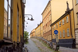 Old street of Stockholm, Sweden