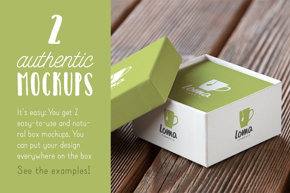 Authentic Box Mockup Vol. 01 in Product Mockups