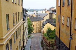 View of old Stockholm street, Sweden