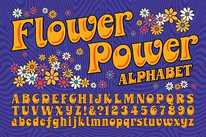 Flower Power Alphabet