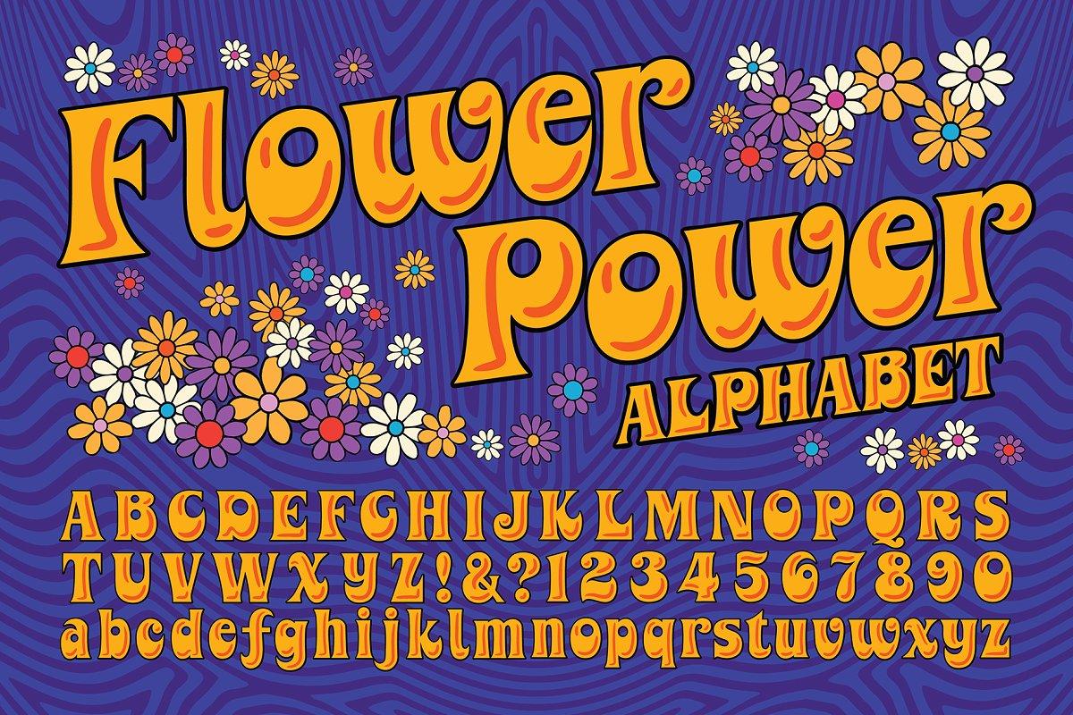 Flower Power Alphabet