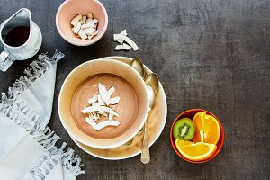 Chocolate yogurt parfait
