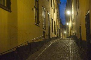 Old-town street, Stockholm,Sweden