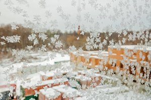 Snowflakes on the window