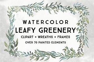 Wild Botanical Greenery Graphics