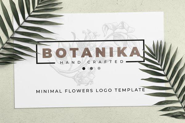 Minimal Flowers logo template
