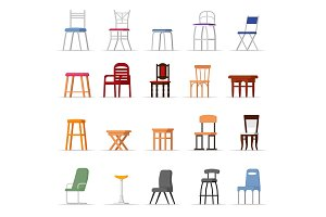 Chair vector comfortable seat in