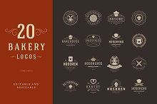 20 Bakery Logotypes and Badges