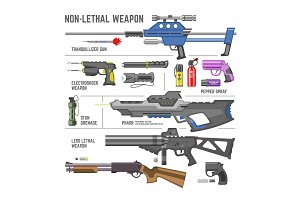 Gun vector military non-lethal