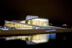 Opera-house in the night.Oslo,Norway