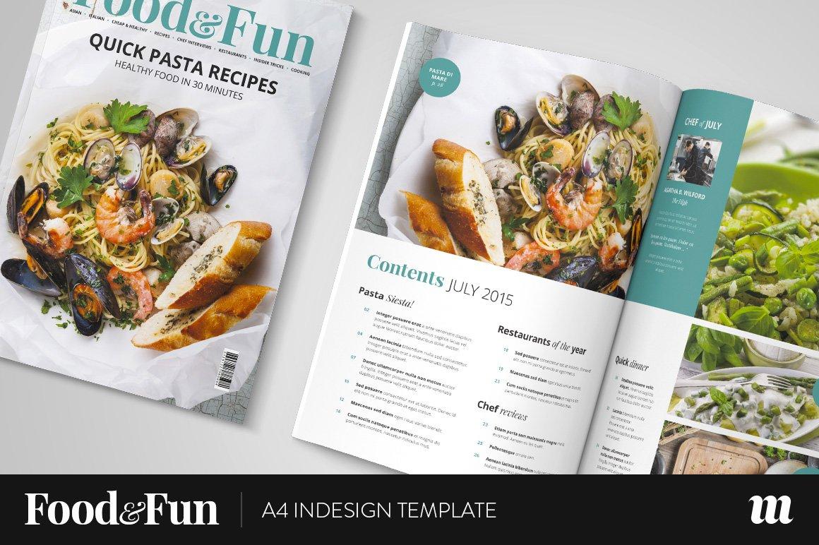 Food&Fun Magazine InDesign Template ~ Magazine Templates ~ Creative ...