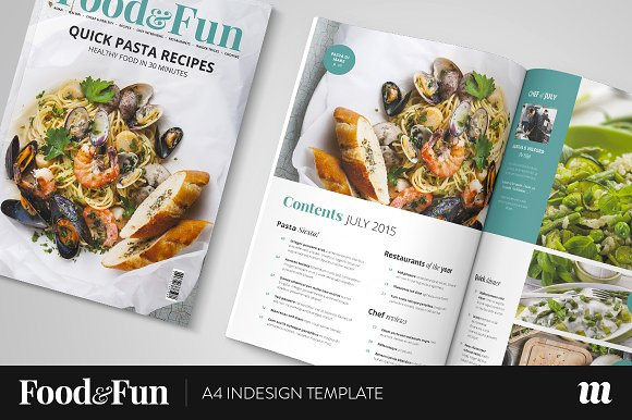 Foodfun magazine indesign template magazine templates creative foodfun magazine indesign template magazine templates creative market forumfinder