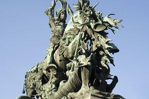 St.George statue,Stockholm, Sweden