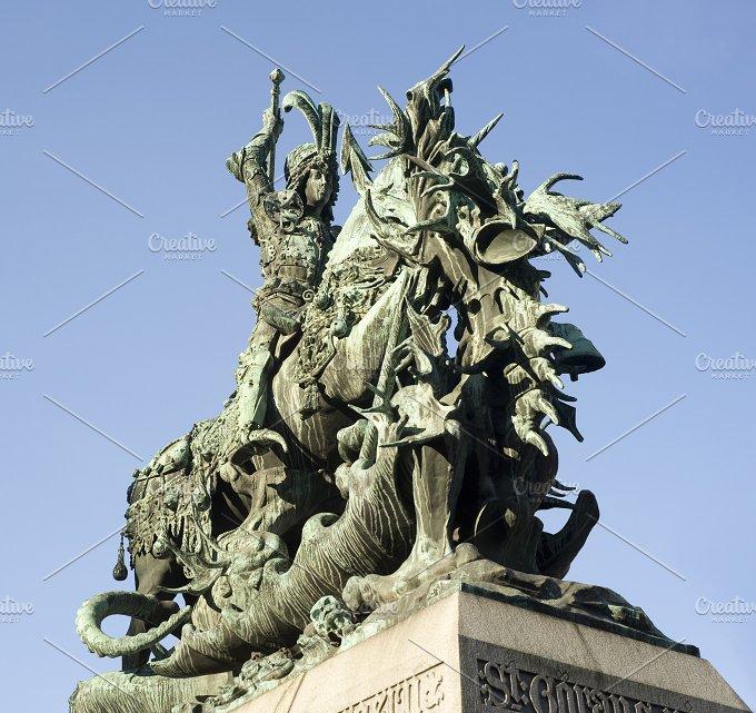 St.George statue,Stockholm, Sweden - Architecture