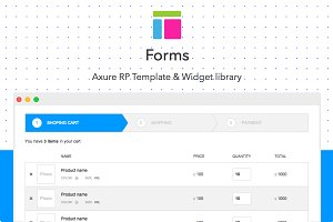 Axure template / Forms