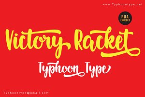 Victory Racket font