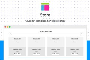 Axure template / Store