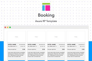 Axure template / Booking