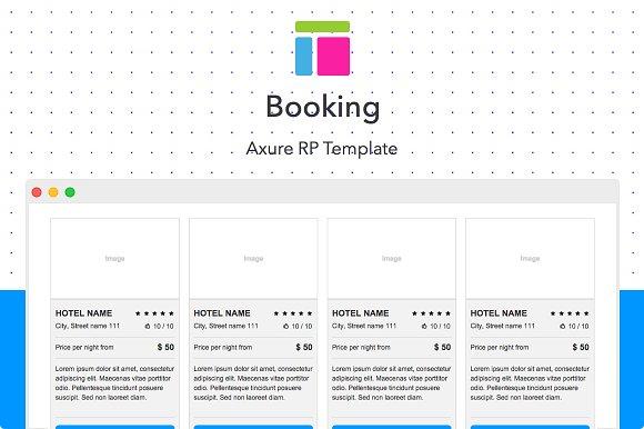 Axure Template Booking Website Templates Creative Market - Axure templates