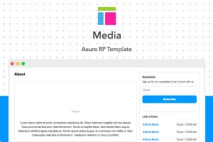 Axure template / Media