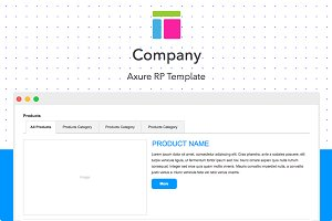 Axure template / Company