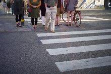 People on a crosswalk, Stockholm