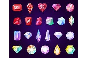 Gemstones, jewel and precious stone