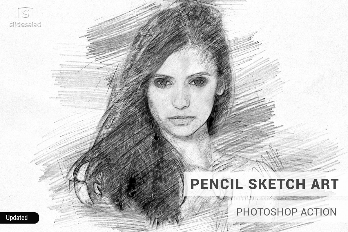 2e15d646c05 Pencil Sketch Art Photoshop Action ~ Photoshop Add-Ons ~ Creative Market