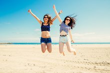 Jumping on the beach.jpg