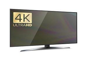 4K Screen Resolution Smart TV. Ultra