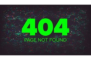 404 Error Vector. Error 404 Page Not