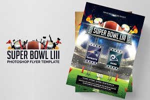 Super Bowl LIII 2019 Photoshop Flyer
