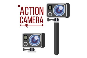 Action Camera Vector. Active Extreme