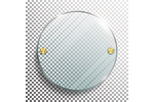 Advertising Round Glass Blank. 3d