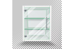 Advertising Glass Cabinet Vector