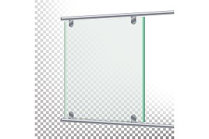 Advertising Glass Board Vector